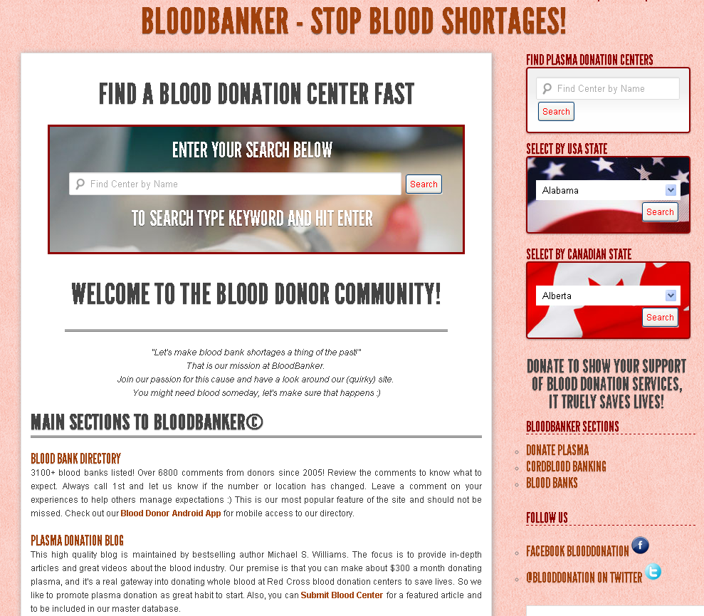 BloodBank Homepage