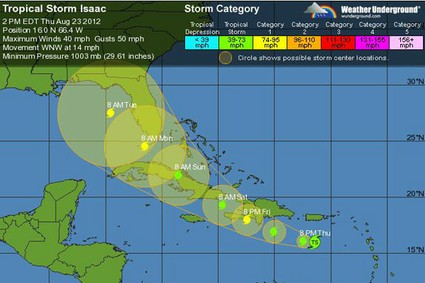 &quot;Tropical Storm Isaac&quot;