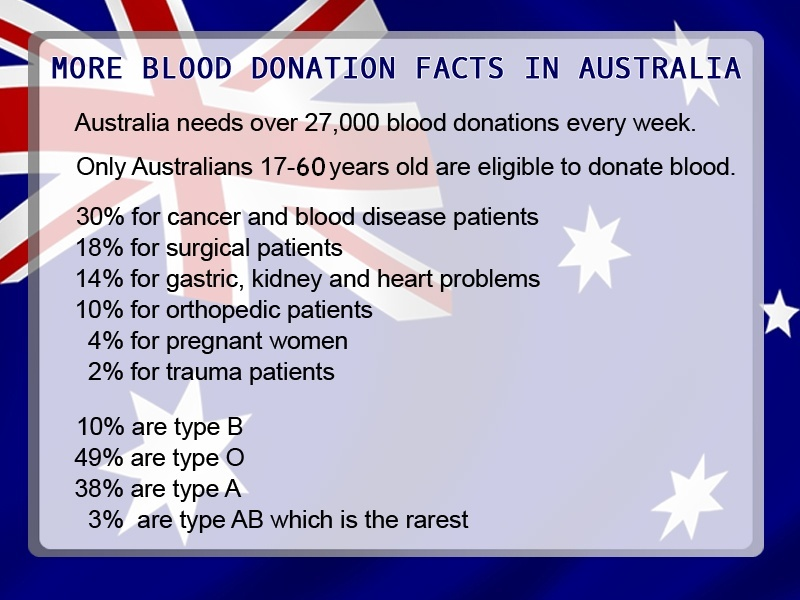 More AUS Blood Donation Facts