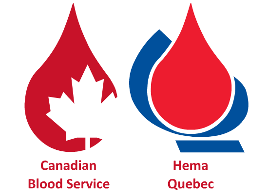 """The blood centers in Canada"""