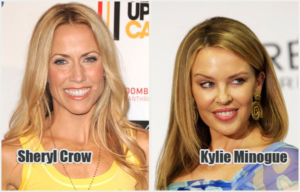 """Singers Sheryl Crow and Kylie Minogue are both Breast Cancer Survivors"""