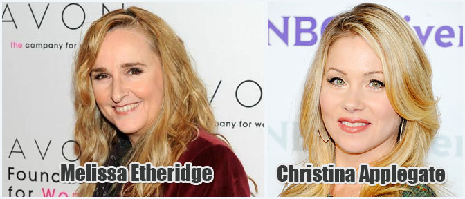 """Melissa Etheridge and Christina Applegate are now advocates of breast cancer awareness"""