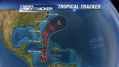 """Tropical Storm Sandy in Caribbean (Photo Credit: winknews.com)"""