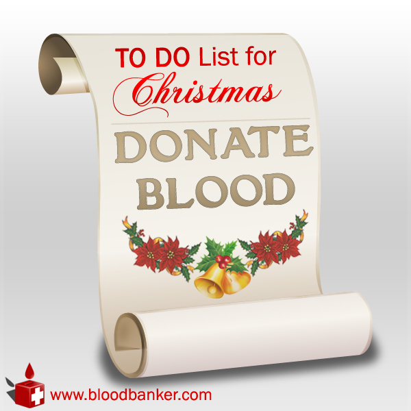 """Make blood donation your to-do list this Christmas"""