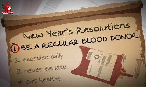 """Be a regular blood donor this year"""