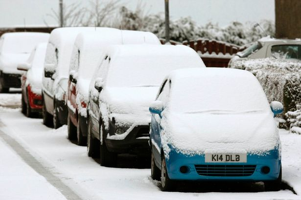 Heavy snowfall in Scotland caused snows to cover the cars