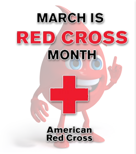 """March is Red Cross Month"""