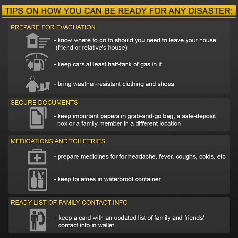 """How to get ready for disasters"""