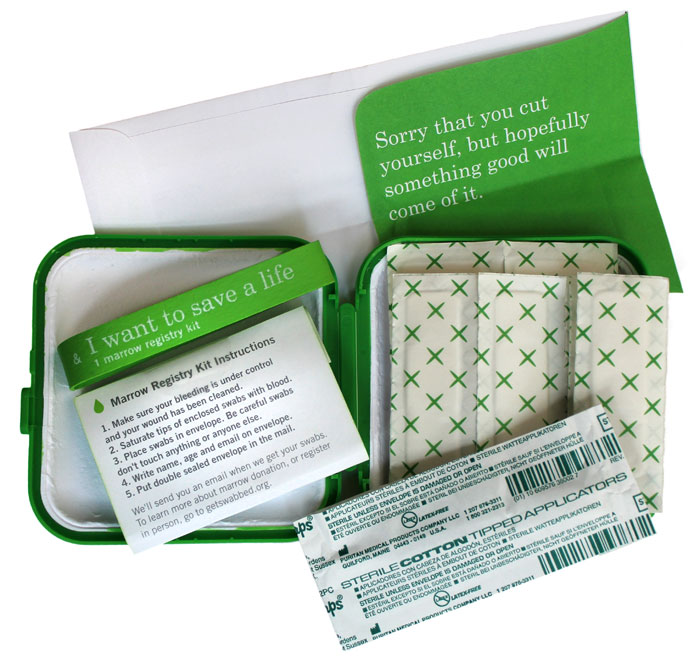 bone marrow registry kit to connect marrow donors and patients
