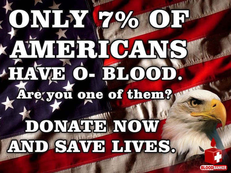 Blood Donation 4th of July banner