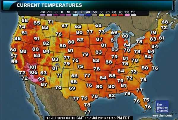 Temperature in USA