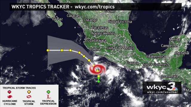 Tropical Storm Dalila (photo courtesy of: http://www.wkyc.com/)